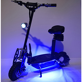 Blue LED kit on scooter