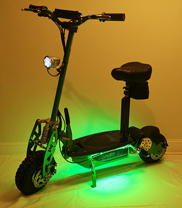 Green LED Kit on scooter