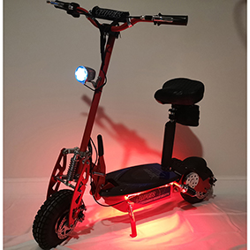 Red LED kit on scooter