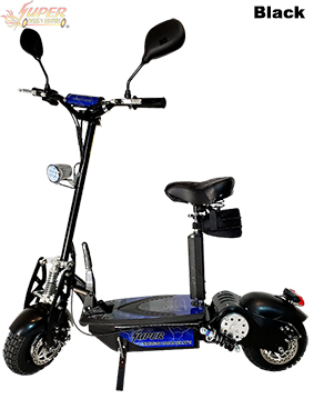 Super Turbo 1000-Elite Deluxe black electric scooter
