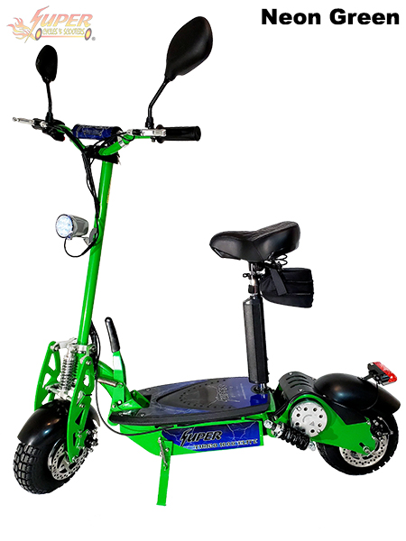 Super Turbo 1000-Elite Deluxe green electric scooter