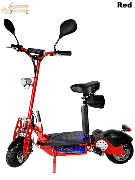 Super Turbo 1000-Elite Deluxe red electric scooter