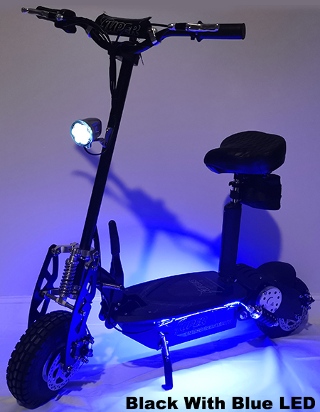 Super Turbo 1000-Elite LED Edition black electric scooter