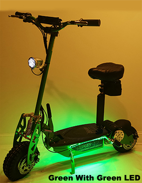 Super Turbo 1000-Elite LED Edition green electric scooter