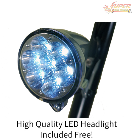 High quality LED head light included FREE!