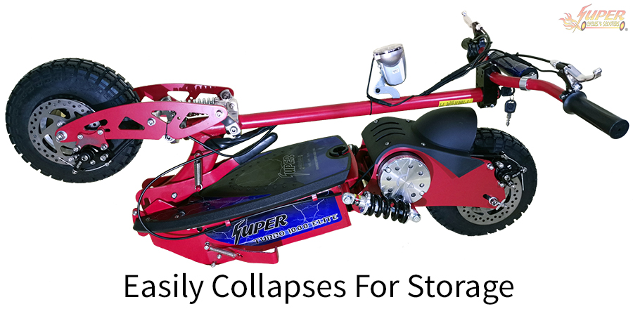 Easily collapses for storage