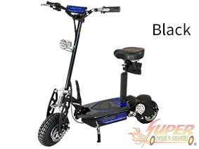 Super Turbo 1000-Elite black electric scooter