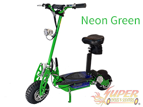 Super Turbo 1000-Elite green electric scooter