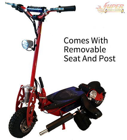 Comes with removable seat and post