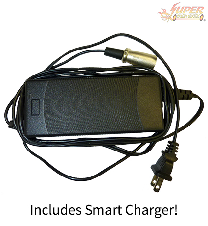 Includes smart charger!