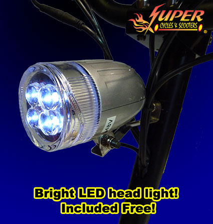 Bight LED headlight included FREE!