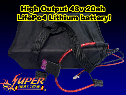 High output 48v 20ah LifePo4 lithium battery