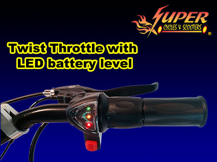 Twist throttle with LED battery level