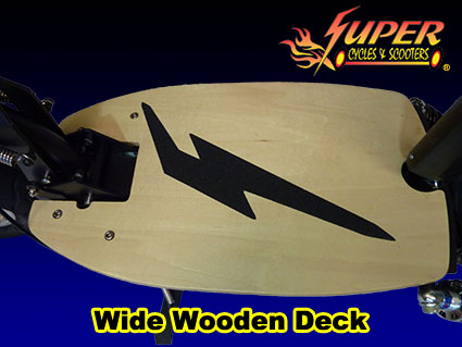 Wide wooden deck