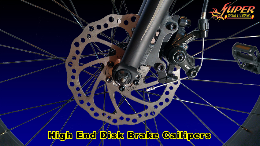 High end disk brakes and calipers