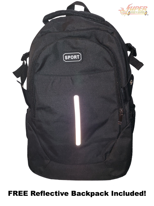 Free Reflective Backpack Included