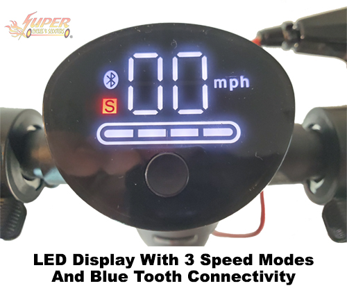 LCD display with 3 speed modes and blue toothe connectivity