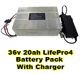 36v 20ah LifePro4 Battery Pack With Charger