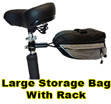 Large storage bag with rack