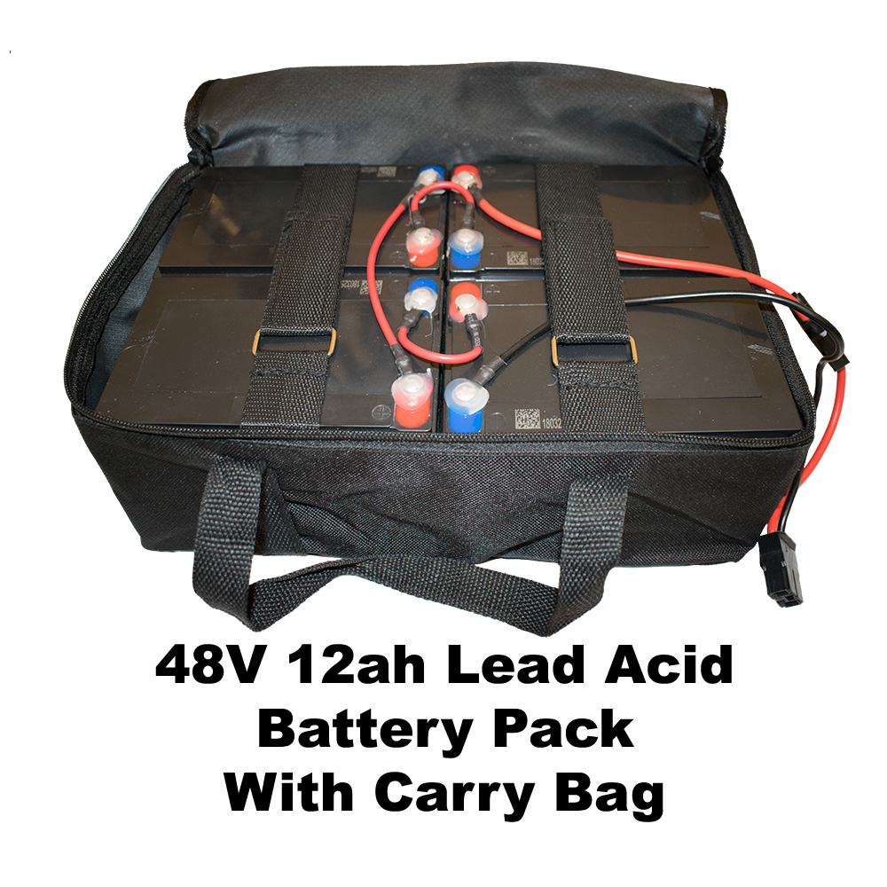 48V 12ah Lead Acid Battery pack with carry bag