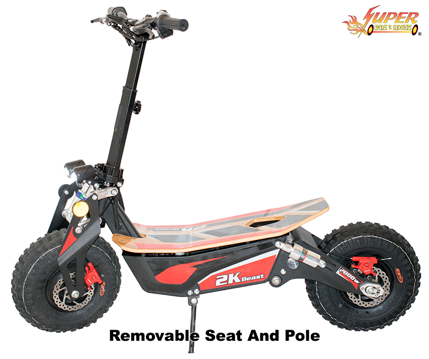 Removable seat and pole