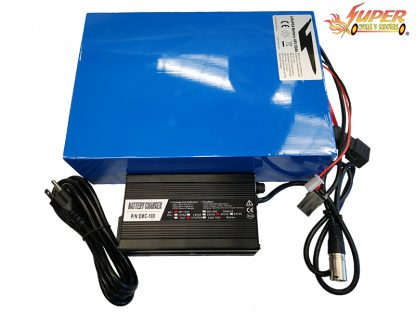 48v 20ah LifePo4 11in Battery W. Charger Blue