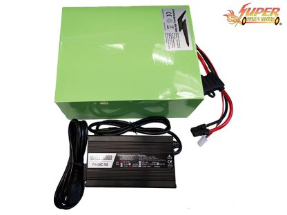 48v 20ah LifePo4 11in Battery W. Charger Green