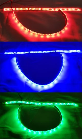 LED lights red, blue, and green